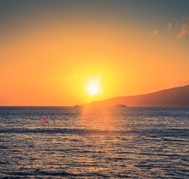 Beautiful sunset in Maui